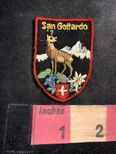 Gotthard Pass SAN GOTTARDO Switzerland Mountain Pass Patch 93U7