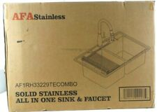 AFA Solid Stainless All-In-One 33 In. Sink & Semi Pro Faucet Combo AF1RH33229TE
