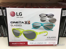 NEW LG AG F315 - GENUINE -4 Pack of Passive 3D Glasses for LG Cinema 3D TV Party