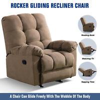 Rocker Recliner Gliding Recliner Chair Manual Living Room Reclining Soft Sofa