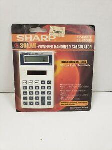Vintage SHARP Elsi Mate EL-240HB Solar Handheld Calculator 1980s Japan NEW/NOS