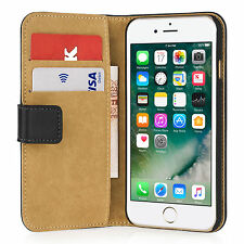 Caseflex Real Genuine Leather Wallet Phone Case Cover for iPhone 7 & 7 Plus