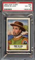 1952 TOPPS LOOK AND SEE #49 PONCE DE LEON PSA 8 *DS11387