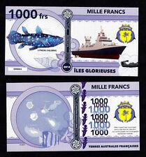 ILES GLORIEUSES ● TAAF / COLONIE ● BILLET POLYMER 1000 FRANCS ★ N.SERIE 000004