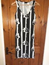 ASOS size 10 Black Floral Vest Dress - see notes