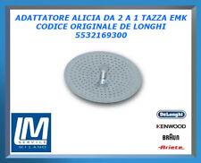 ADATTATORE ALICIA DA 2 A 1 TAZZA EMK 5532169300 DE LONGHI ORIGINALE