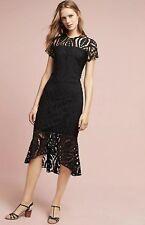 0c5e820e88e3 NEW $418 Shoshanna Zinia Lace Dress Size 00 Petite Black