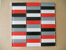 Crystal Glass Mosaic Tiles -  Kitchen Splash/Feature Wall - Red Strip Mix Bulk