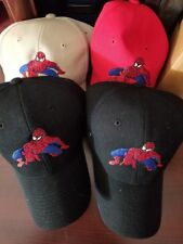 Kids Spider Man Red Black Tan Hat One Size Fits All Four Hats Marvel