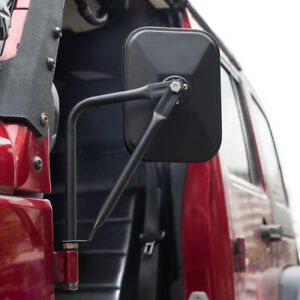 MICTUNING Off-Road Rectangular Adventure Mirrors Door Hinge Mirror Fits All Jeep