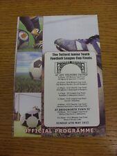 06/05/2012 Football Programme: Telford Junior Youth League Cup Finals - U09 x2,