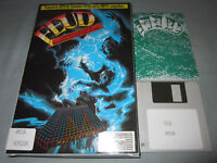 FEUD - 1987 Commodore Amiga Computer Mastertronic Video Game - COMPLETE in Box!