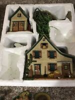 """Lemax Anne  of Green Gables """"Gilbert Shows Off For Anne"""" Farm Scene, With Box"""
