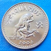Somaliland Aquarius 10 shillings 2006 UNC Zodiac Astrology unusual coin