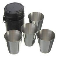 Stainless Steel Cup Mug Drinking Coffee Beer Tumbler Camping Travel 6N