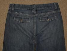 New York & Company Size 4 Tall Flare Dark Blue Stretch Denim Womens Trousers