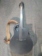 Ovation Elite 1868T black Electric Acoustic Guitar, OP30