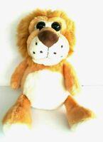Orange Lion Cub Sitting Soft Plush Cuddly Stuffed Animal Doll Toy