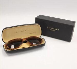 BVLGARI Occhiali Brown Tortoise Shell BV703503 Square Men's Sunglasses With Box