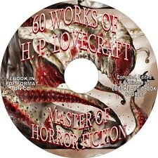 60 WORKS OF H. P. LOVECRAFT - MASTER OF HORROR - EBOOK ON CD IN PDF FORMAT