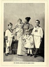 Die Deutsche Kaiserin und ihre jüngsten Kinder * Dekorative Graphik 1895