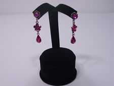 "NEW 4""H BLACK VELVET EARRING JEWELRY DISPLAY STAND TOP CASE , RD7B1"