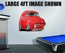 DB 1955 Hot Rod F100 Panel Wall Decal Vinyl Sticker Peel Stick Cartoon Car 2ft