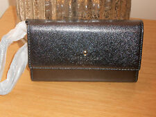 KATE SPADE BLACK METALLIC SAFFIANO WRISTLET IPHONE 6 CASE NIB 8ARU1599