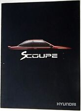 Hyundai SCoupe 1991 14-page Colour Sales Brochure VGC