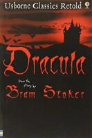 Dracula (Usborne Classics Retold) by Stoker, Bram Paperback Book The Fast Free
