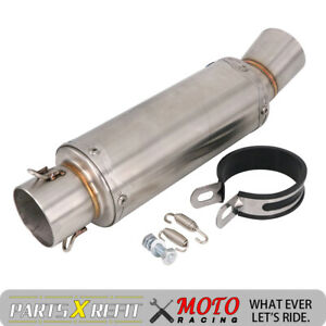 Universal 51mm 63MM Exhaust Silencer Pipe Muffler Tail Tip Motorcycle Motocross