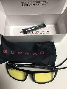 GUNNAR Valve Anti-Blue Light Onyx Frame Amber Tinted Computer / Gaming Glasses