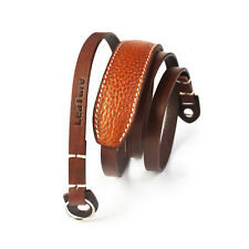 1m Brown LeaTure Leather Camera Lengthened Shoulder Neck Strap with Shoulder Pad