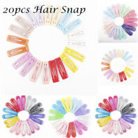 20Pcs/Set Girls Candy Color Metal Snap Hair Clips Hair Pins BB Hairpin Barrettes