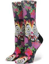 Stance Cat Man Do High Boy Crew Socks in Multi Colour UK 2 - 5