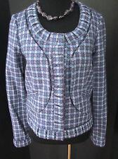 Thakoon NWOT Cropped Jacket Purple | Light Blue| Light Green| Plaid Tweed Size 2