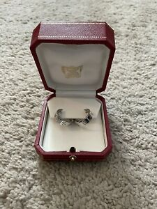Excellent Shape! Cartier Love White Gold Hoop Earrings 5.5 mm Circa 1997 w/ Box