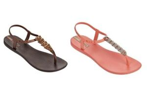 Ipanema Brazil Women Charm Flip Flop Sandals Vary Colors All Sizes