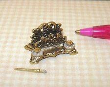 Miniature Kendall Antique Gold Victorian Desk Set: DOLLHOUSE Miniatures 1/12