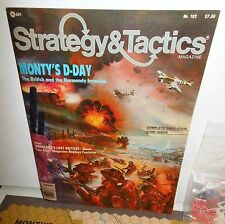 Strategy & Tactics Mag w/Game #102 Monty's D-Day Tactical Punched Complete +Xtra
