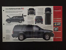 1998 Lincoln NAVIGATOR IMP Hot Cars Spec Sheet Folder Brochure RARE