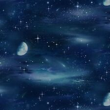 Moon & Stars Nature Outdoors Black Elizabeth's Studio #6914 By the Yard