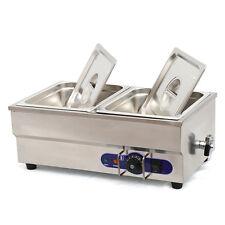 "Food Warmer Restaurant Bain Marie Steam table 6"" deep 1/2 size pans 1500W"