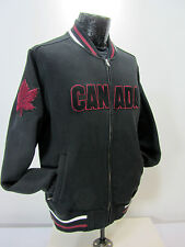 Hudson Bay Co. Canada Olympic Men's M  Black Athletic Fleece Jacket Full Zipper