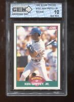 Ken Griffey Jr. RC 1989 Score Traded #100T Mariners GEM MINT 10