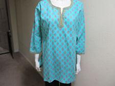Camisas y tops de mujer sin marca color principal azul 100% algodón