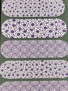 Jamberry Half Sheet - Purple Flowers and Circles Mixed Mani NAS