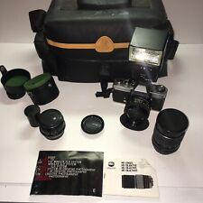 MINOLTA XD5 Camera Bag MINOLTA MD ROKKOR - X 50mm 1:1.7 & 2 Other Lenses Flash