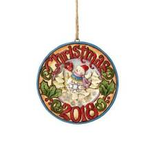 Jim Shore New 2018 DATED SNOWMAN WITH CARDINAL 2018 HANGING ORNAMENT 6001500