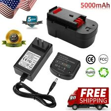 NiCd/NiMh Battery Charger + 18V 5.0Ah Lithium Battery for Black&Decker in Combo